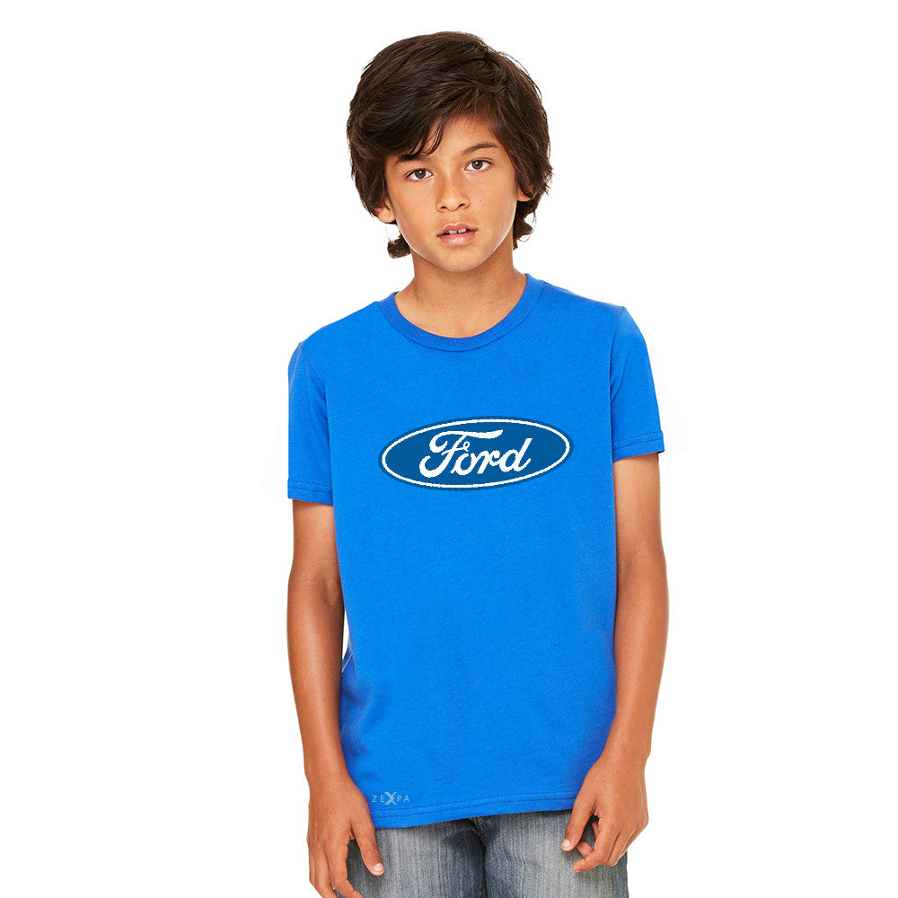Ford Brand Logo Licensed Collective Fan Youth T-shirt Ford Tee - Zexpa Apparel
