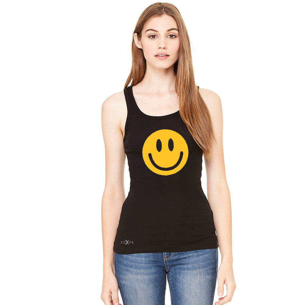 Funny Smiley Face Super Emoji Women's Tank Top Funny Sleeveless - Zexpa Apparel
