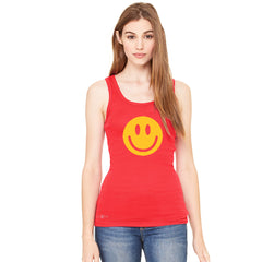 Funny Smiley Face Super Emoji Women's Tank Top Funny Sleeveless - zexpaapparel - 4