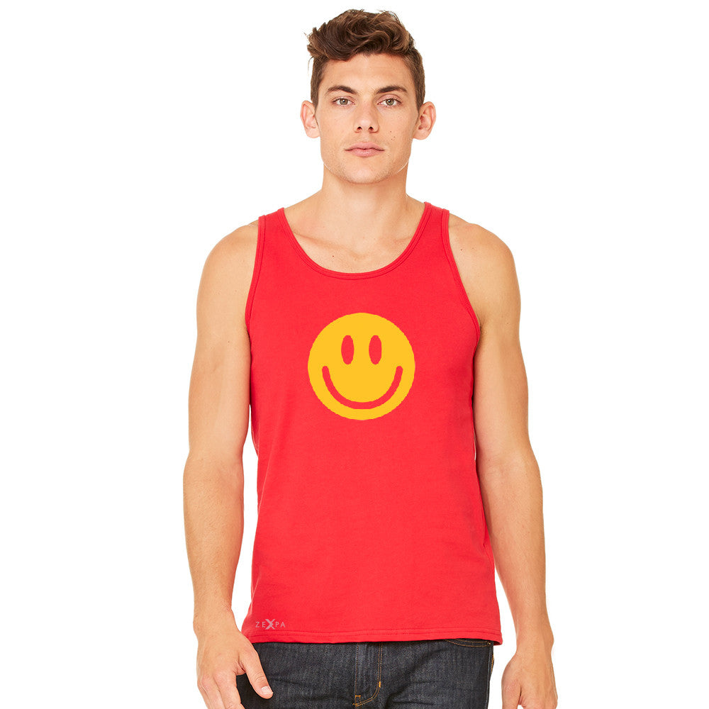 Funny Smiley Face Super Emoji Men's Jersey Tank Funny Sleeveless - zexpaapparel - 8