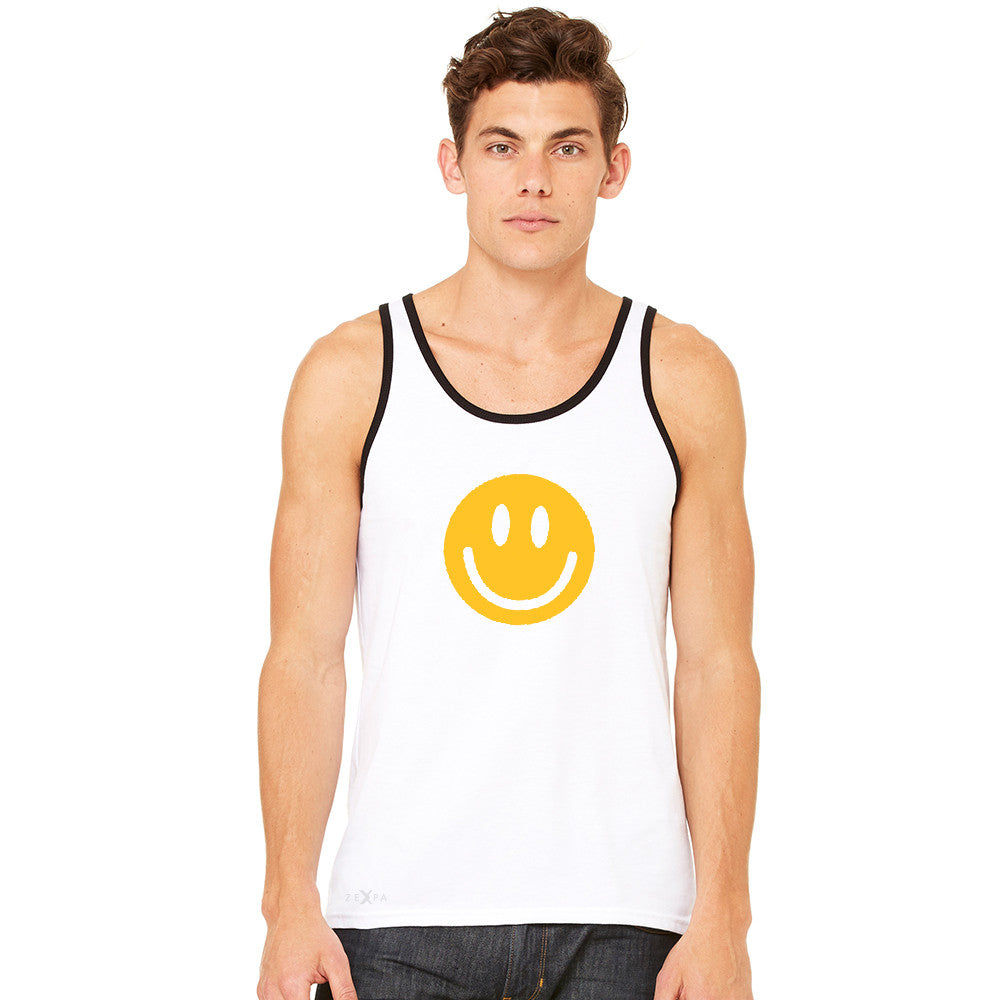Funny Smiley Face Super Emoji Men's Jersey Tank Funny Sleeveless - zexpaapparel - 10