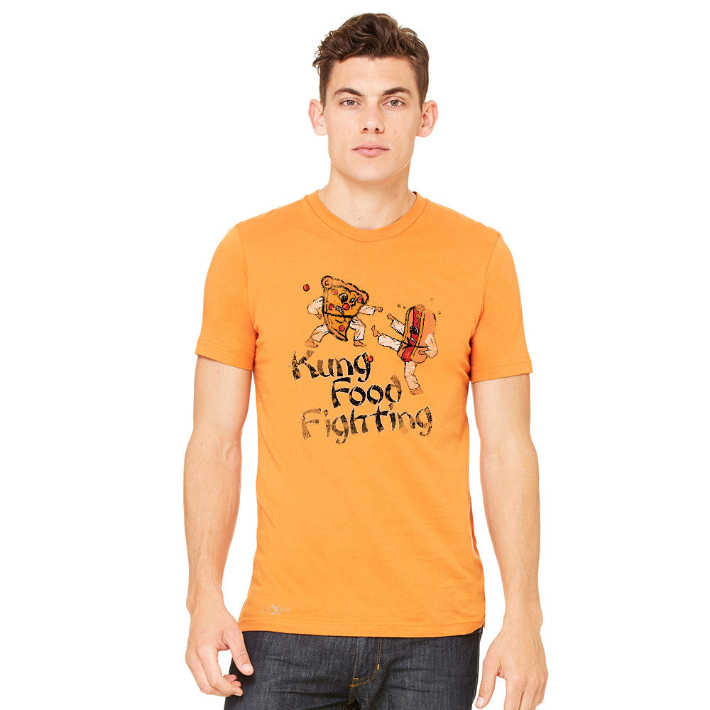 Kung Food Fighting Pizzas Kung Fu Men's T-shirt Funny Tee - zexpaapparel - 7