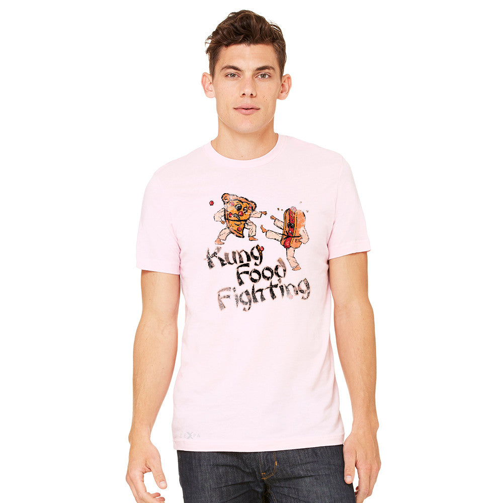 Kung Food Fighting Pizzas Kung Fu Men's T-shirt Funny Tee - Zexpa Apparel