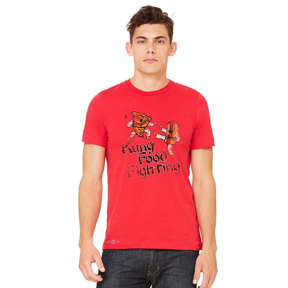Kung Food Fighting Pizzas Kung Fu Men's T-shirt Funny Tee - zexpaapparel - 9