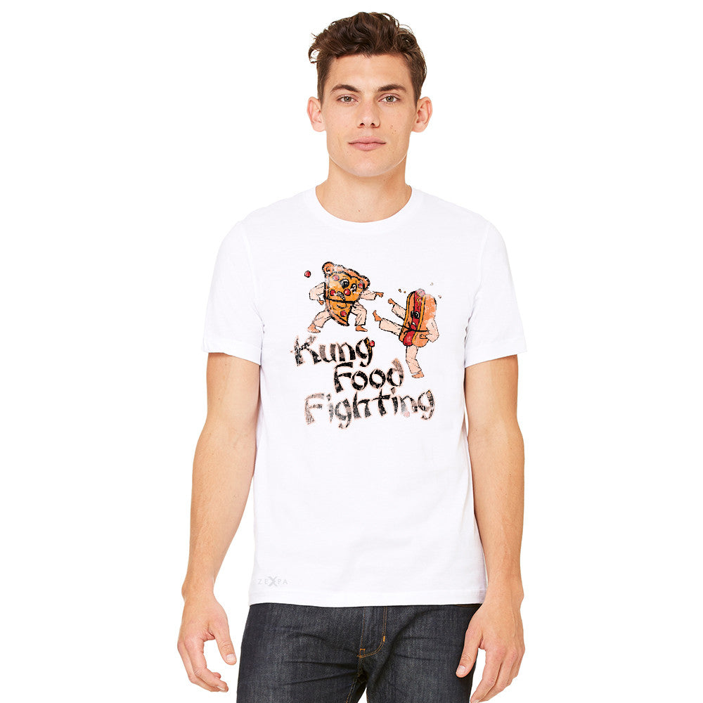 Kung Food Fighting Pizzas Kung Fu Men's T-shirt Funny Tee - zexpaapparel - 11