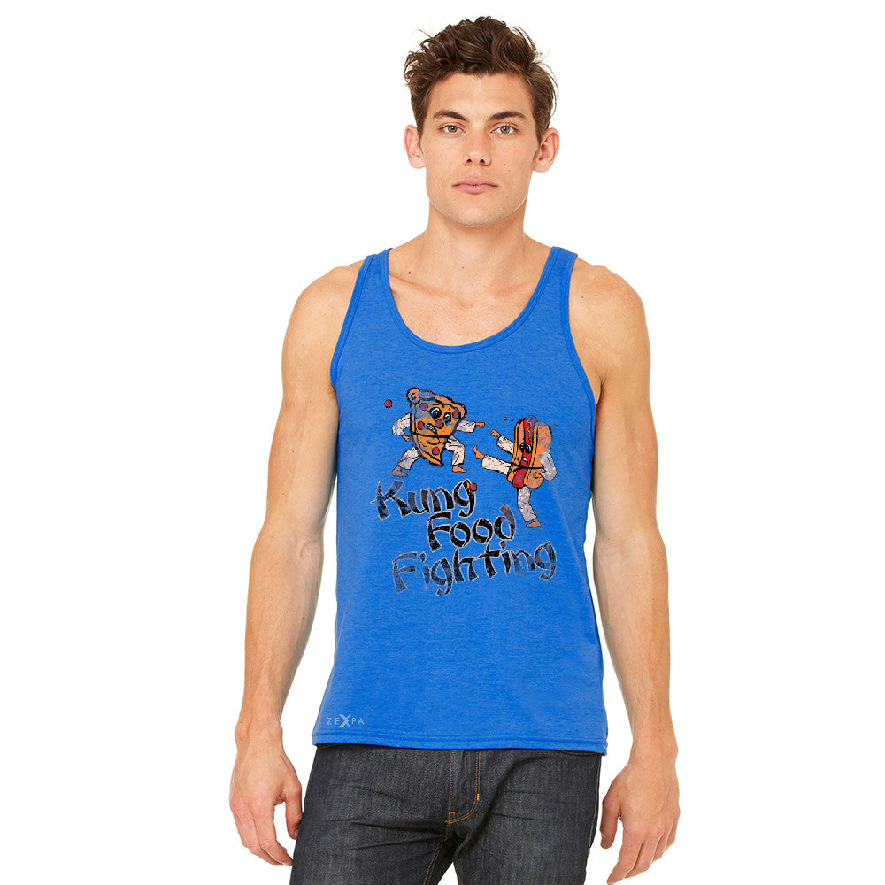 Kung Food Fighting Pizzas Kung Fu Men's Jersey Tank Funny Sleeveless - zexpaapparel - 9