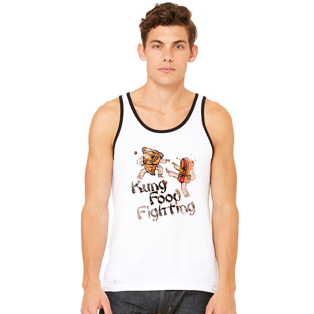 Kung Food Fighting Pizzas Kung Fu Men's Jersey Tank Funny Sleeveless - zexpaapparel - 10