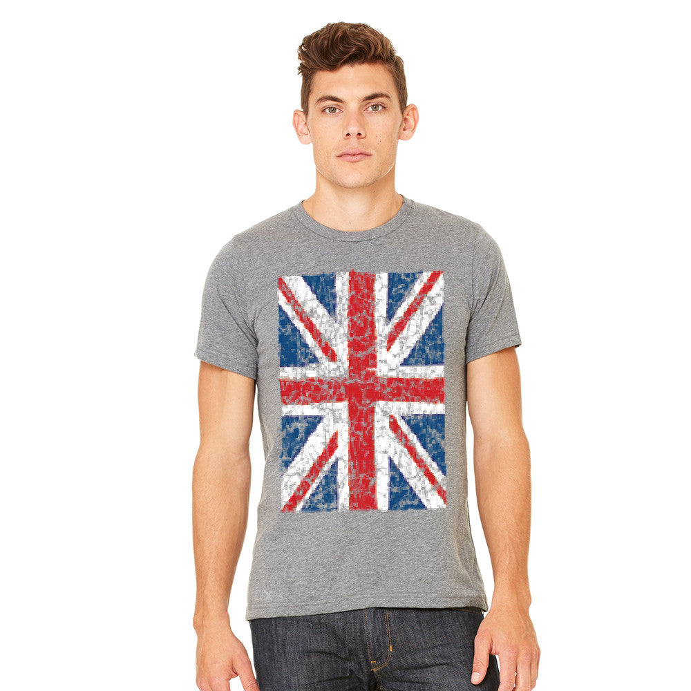 Distressed British Flag Great Britain Men's T-shirt Patriotic Tee - Zexpa Apparel Halloween Christmas Shirts