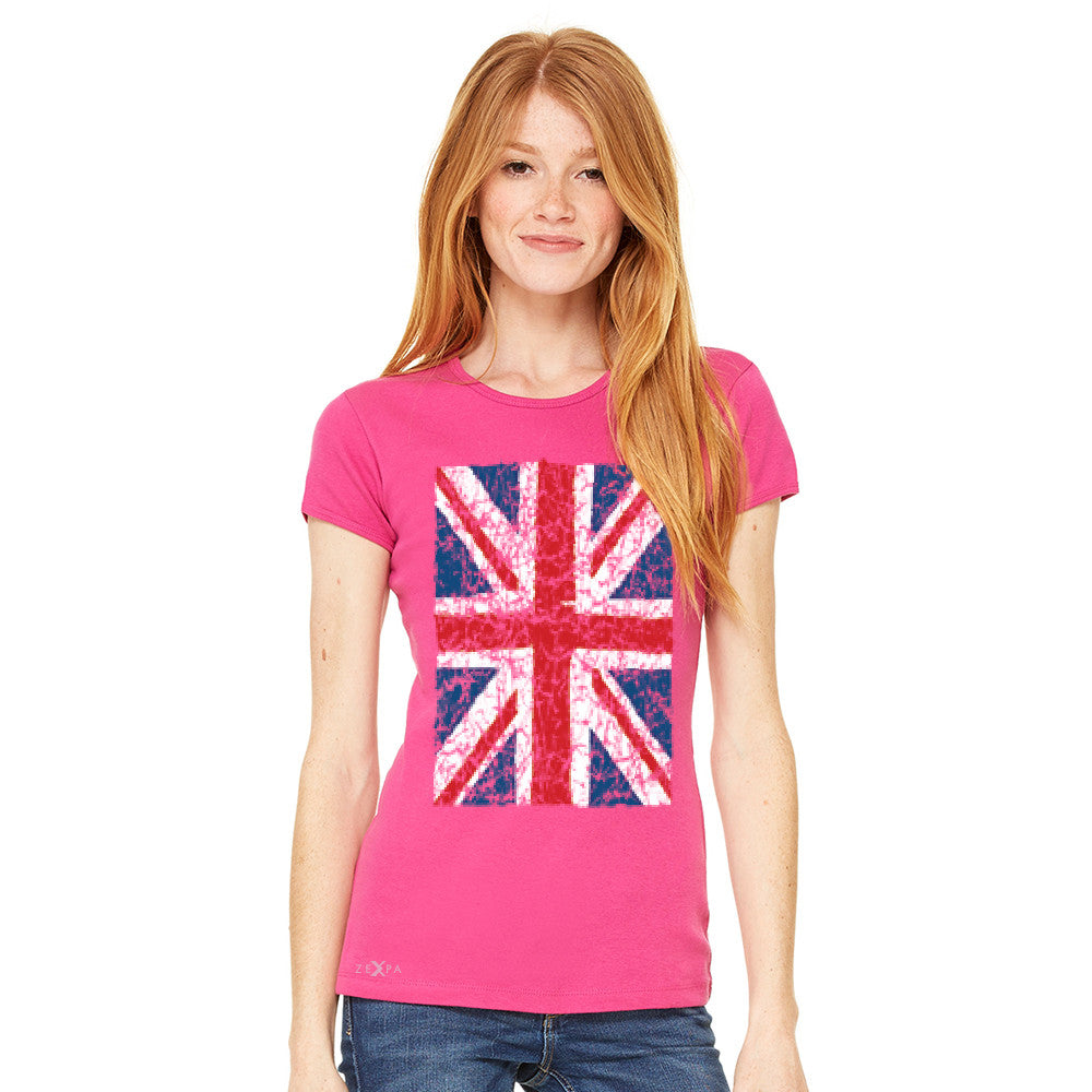 Distressed British Flag Great Britain Women's T-shirt Patriotic Tee - Zexpa Apparel - 6