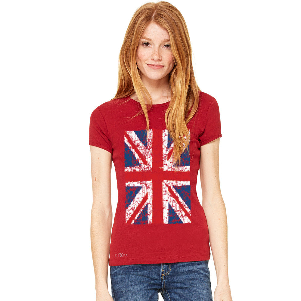 Distressed British Flag Great Britain Women's T-shirt Patriotic Tee - Zexpa Apparel - 9