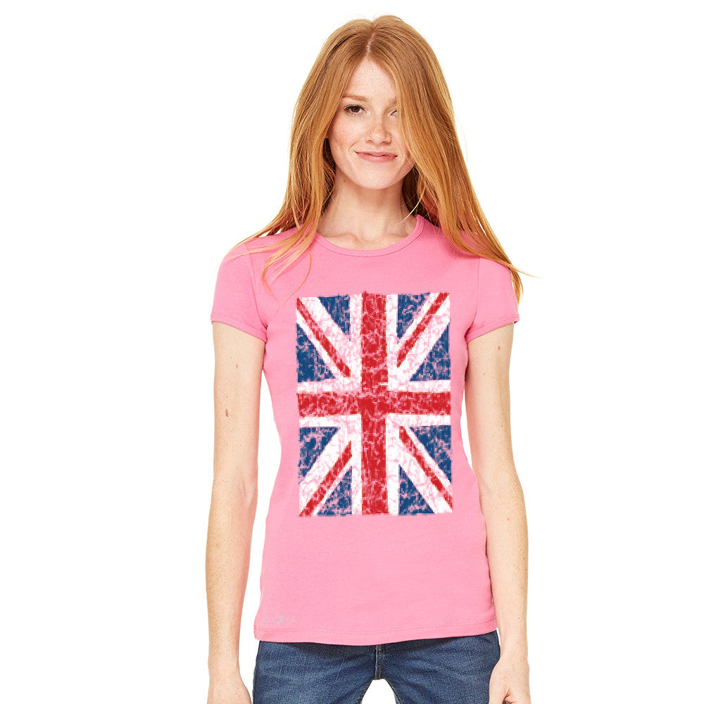 Distressed British Flag Great Britain Women's T-shirt Patriotic Tee - Zexpa Apparel - 10