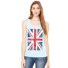 Distressed British Flag Great Britain Women's Racerback Patriotic Sleeveless - Zexpa Apparel - 3