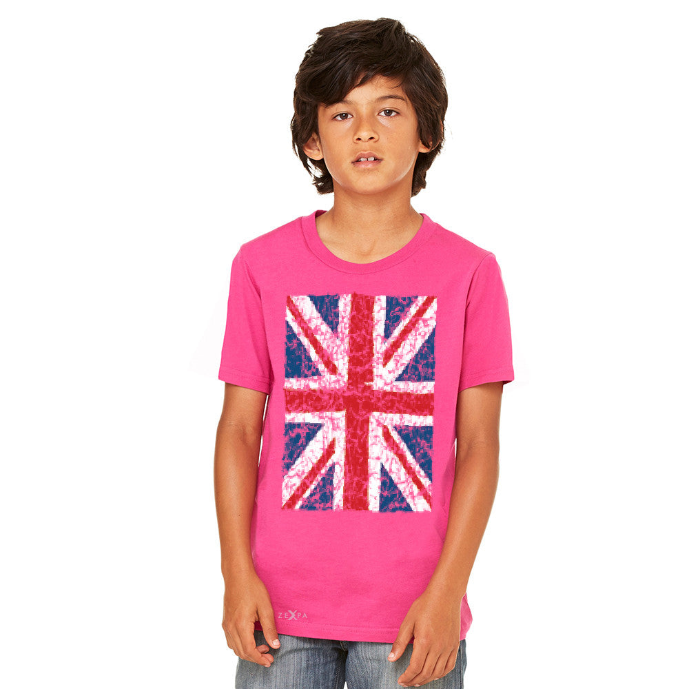 Distressed British Flag Great Britain Youth T-shirt Patriotic Tee - Zexpa Apparel Halloween Christmas Shirts