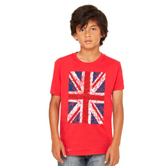 Distressed British Flag Great Britain Youth T-shirt Patriotic Tee - Zexpa Apparel