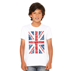 Distressed British Flag Great Britain Youth T-shirt Patriotic Tee - Zexpa Apparel - 8