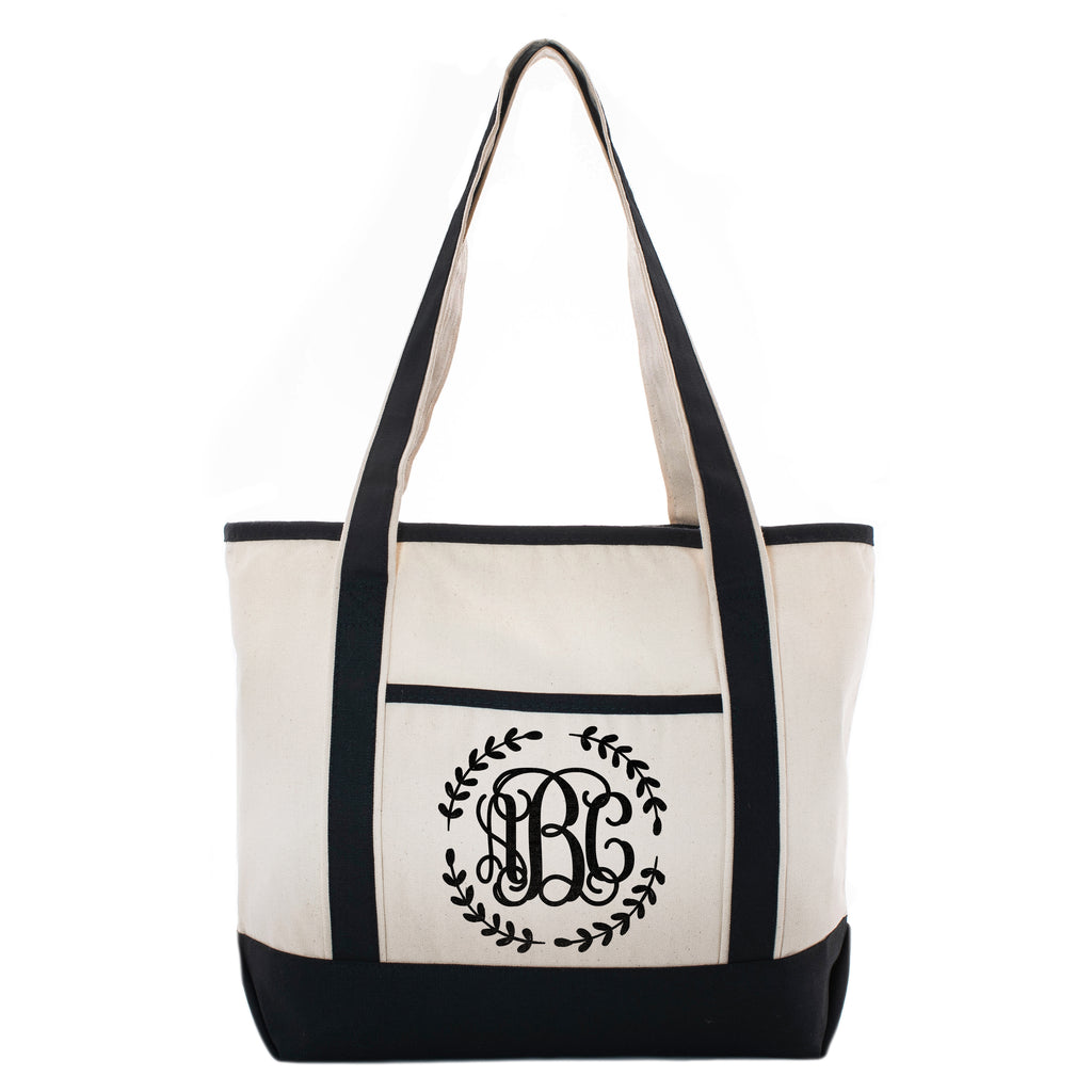 Personalized Monogram Black Linen Tote Bag | Initial Luxury Totes for Beach, Yoga, Gym, Workout, Pilates |Customized Baby Shower, Christmas, Bridal Gift Bags | Bachelorette Party and Events Gifts Bag