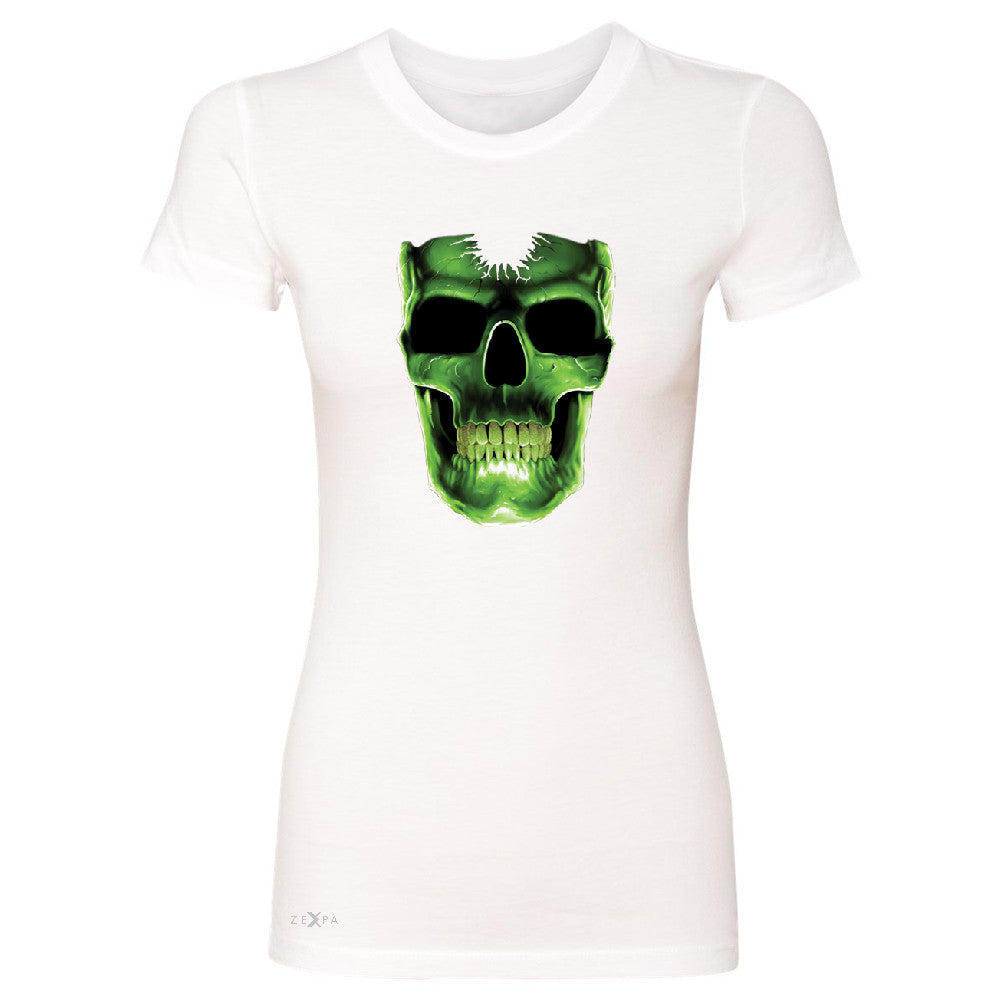 Skull Glow In The Dark  Women's T-shirt Halloween Event Costume Tee - Zexpa Apparel - 5