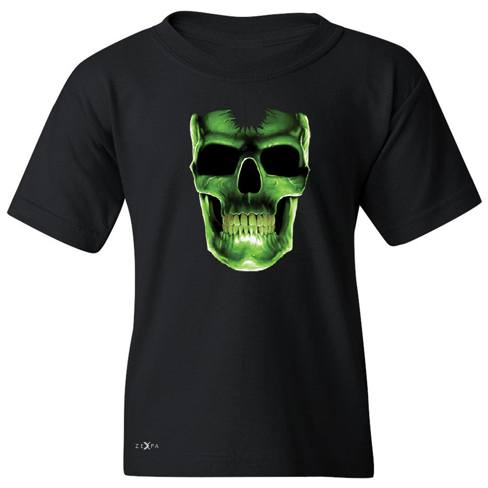 Skull Glow In The Dark  Youth T-shirt Halloween Event Costume Tee - Zexpa Apparel - 1