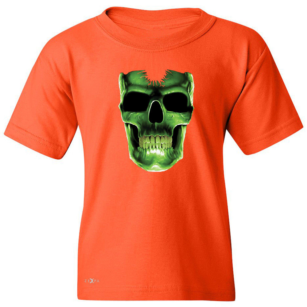 Skull Glow In The Dark  Youth T-shirt Halloween Event Costume Tee - Zexpa Apparel - 2