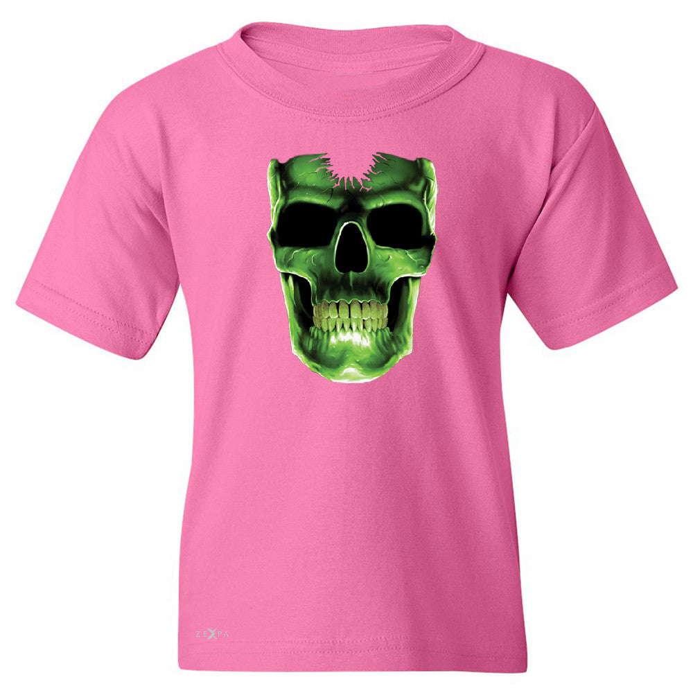 Skull Glow In The Dark  Youth T-shirt Halloween Event Costume Tee - Zexpa Apparel - 3