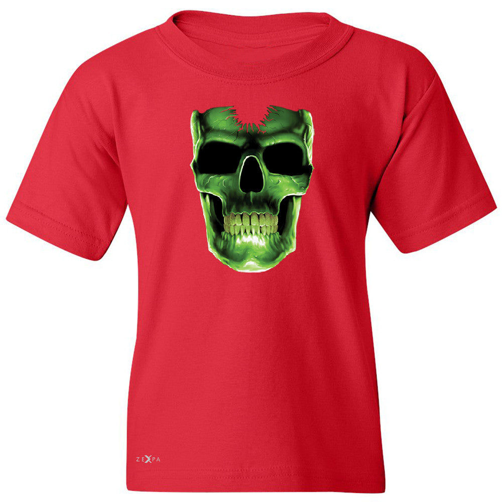 Skull Glow In The Dark  Youth T-shirt Halloween Event Costume Tee - Zexpa Apparel - 4