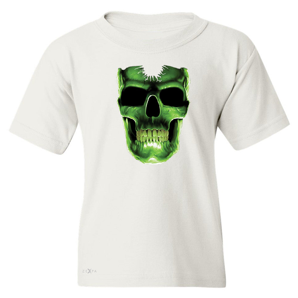 Skull Glow In The Dark  Youth T-shirt Halloween Event Costume Tee - Zexpa Apparel - 5