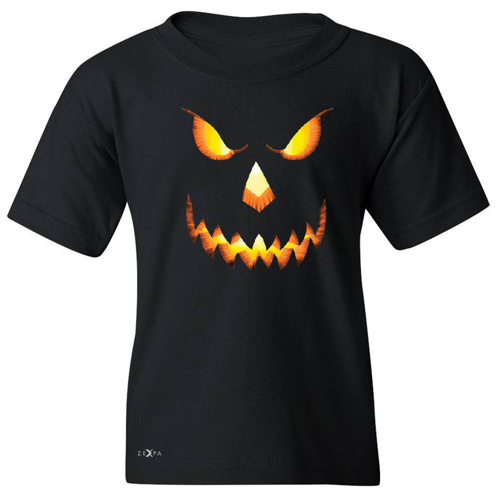 PUMPKIN Jack-o'Lantern Scary Costume Youth T-shirt Halloween NT Tee - Zexpa Apparel - 1