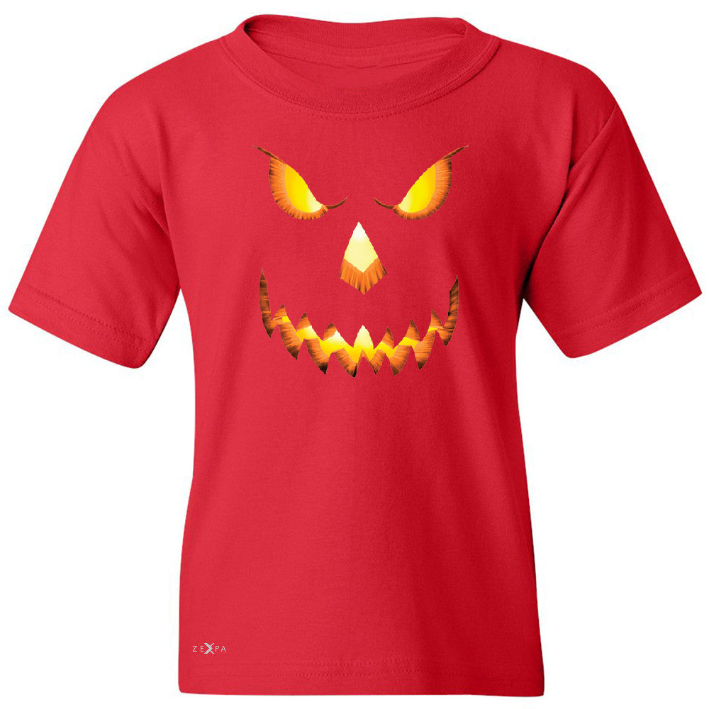 PUMPKIN Jack-o'Lantern Scary Costume Youth T-shirt Halloween NT Tee - Zexpa Apparel - 4
