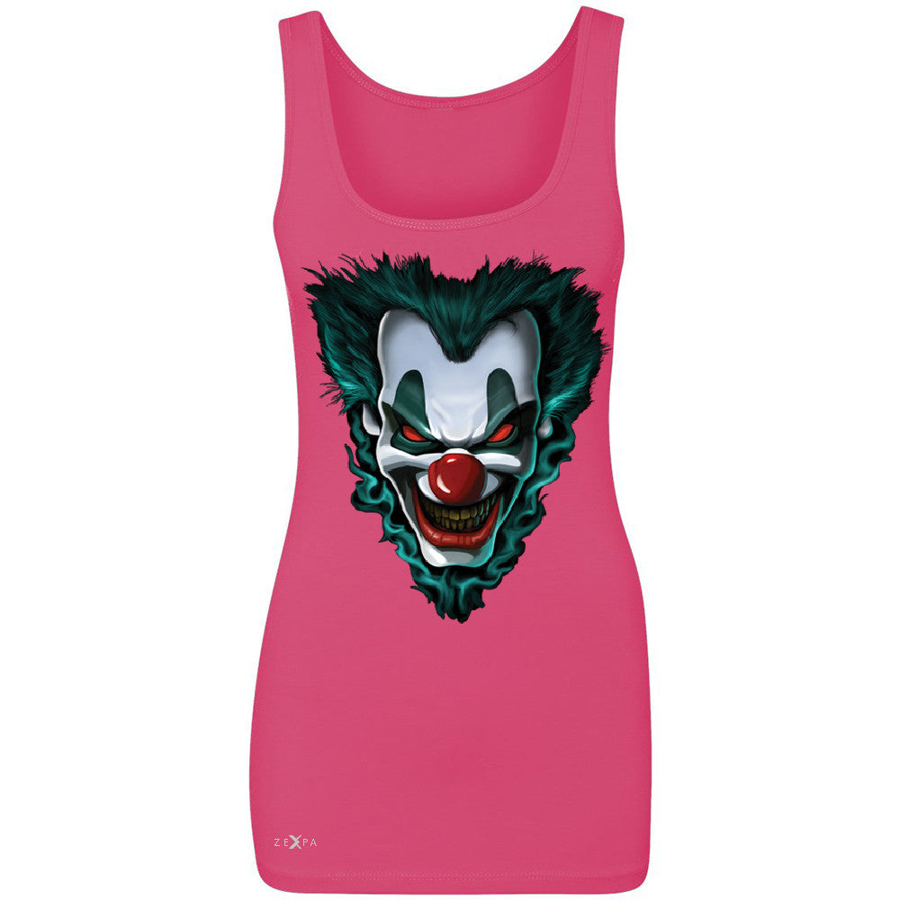 Freakshow Joker Clown Scary Women's Tank Top Halloween Eve Costume Sleeveless - Zexpa Apparel - 2