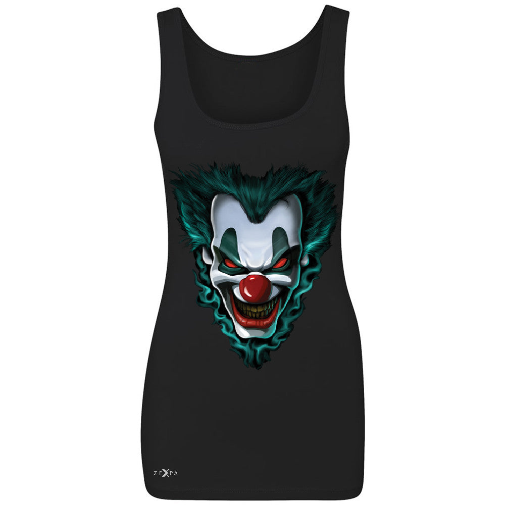 Freakshow Joker Clown Scary Women's Tank Top Halloween Eve Costume Sleeveless - Zexpa Apparel - 1