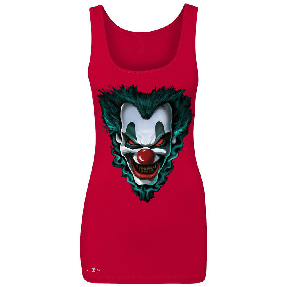 Freakshow Joker Clown Scary Women's Tank Top Halloween Eve Costume Sleeveless - Zexpa Apparel - 3