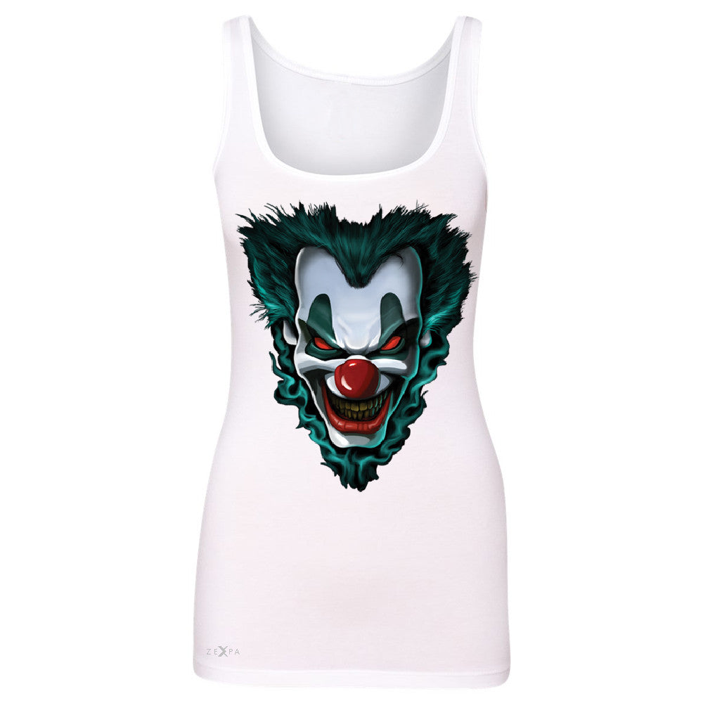 Freakshow Joker Clown Scary Women's Tank Top Halloween Eve Costume Sleeveless - Zexpa Apparel - 4