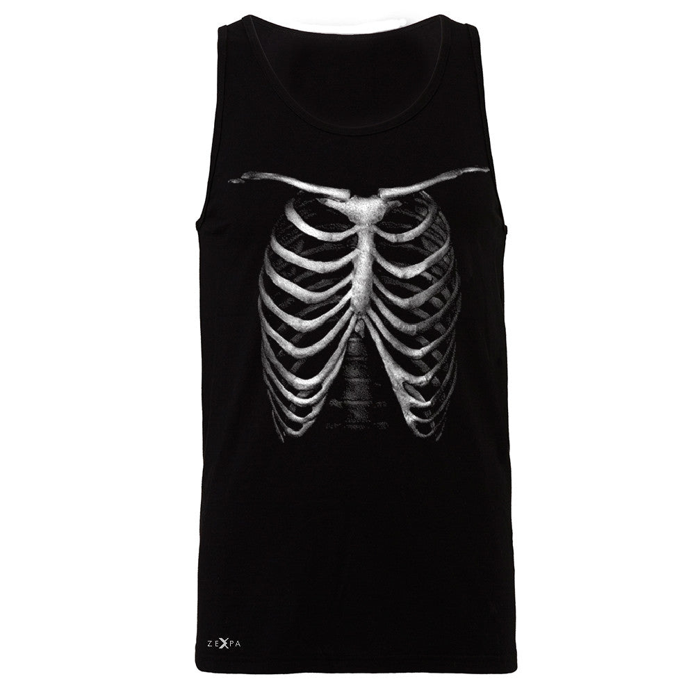 Rib Cage Glow in The Dark  Men's Jersey Tank Halloween Costume Eve Sleeveless - Zexpa Apparel - 1