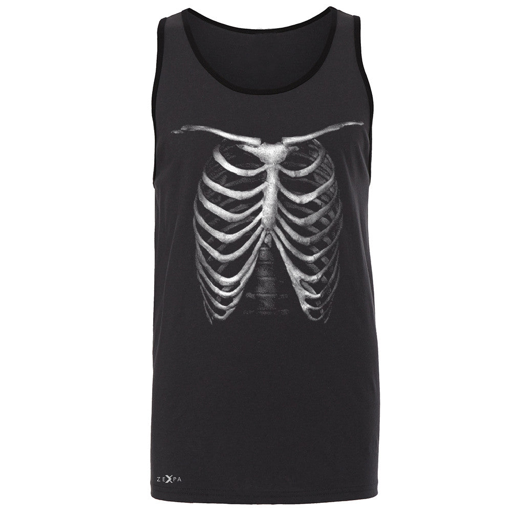 Rib Cage Glow in The Dark  Men's Jersey Tank Halloween Costume Eve Sleeveless - Zexpa Apparel - 3