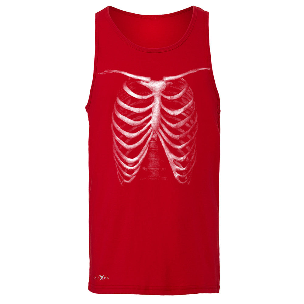 Rib Cage Glow in The Dark  Men's Jersey Tank Halloween Costume Eve Sleeveless - Zexpa Apparel - 4