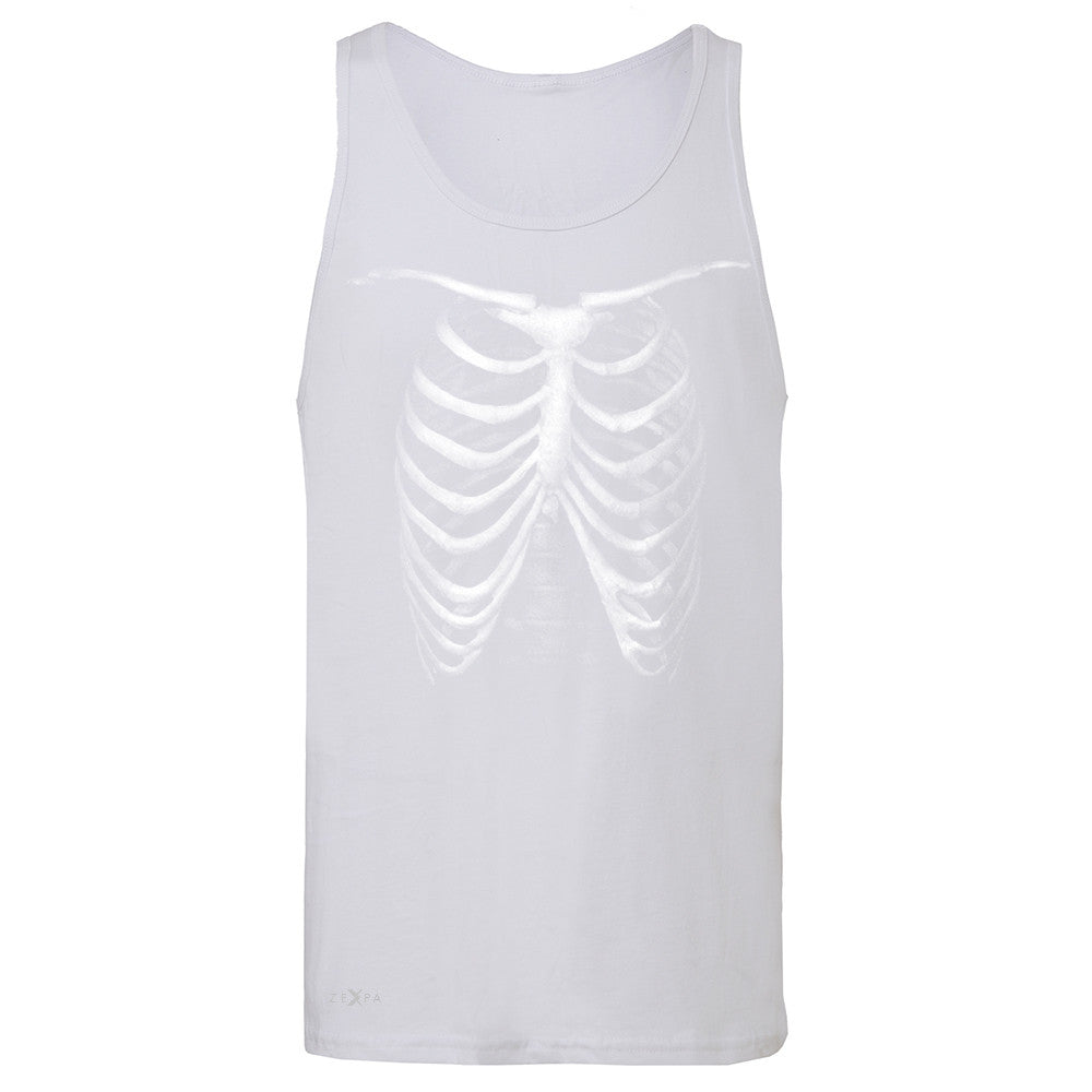 Rib Cage Glow in The Dark  Men's Jersey Tank Halloween Costume Eve Sleeveless - Zexpa Apparel - 6