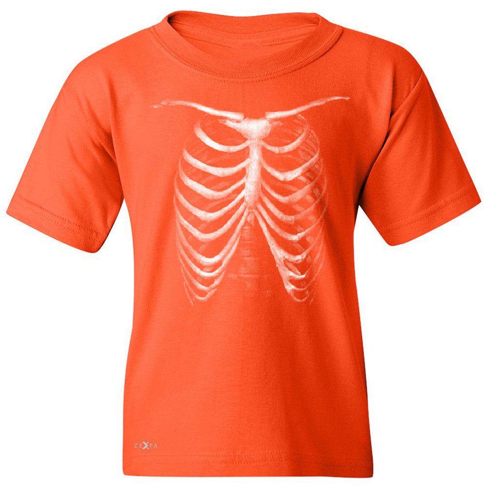 Rib Cage Glow in The Dark  Youth T-shirt Halloween Costume Eve Tee - Zexpa Apparel - 2