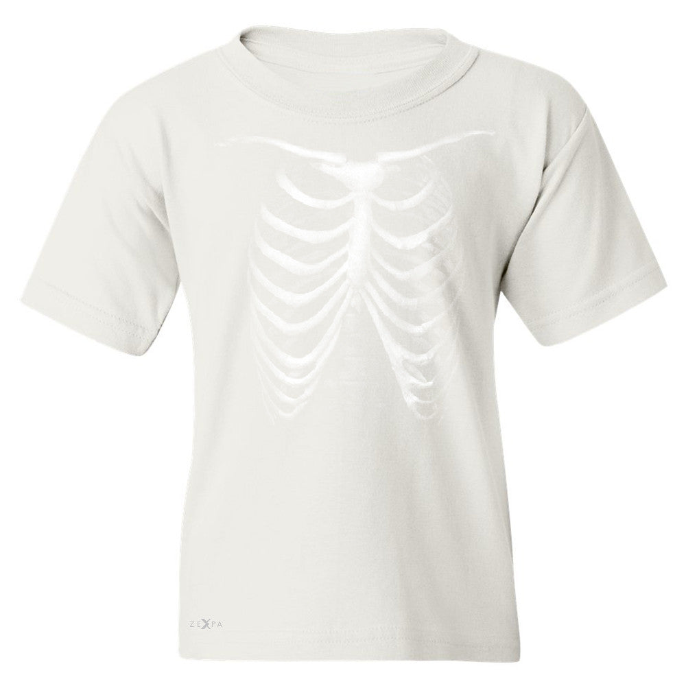 Rib Cage Glow in The Dark  Youth T-shirt Halloween Costume Eve Tee - Zexpa Apparel - 5