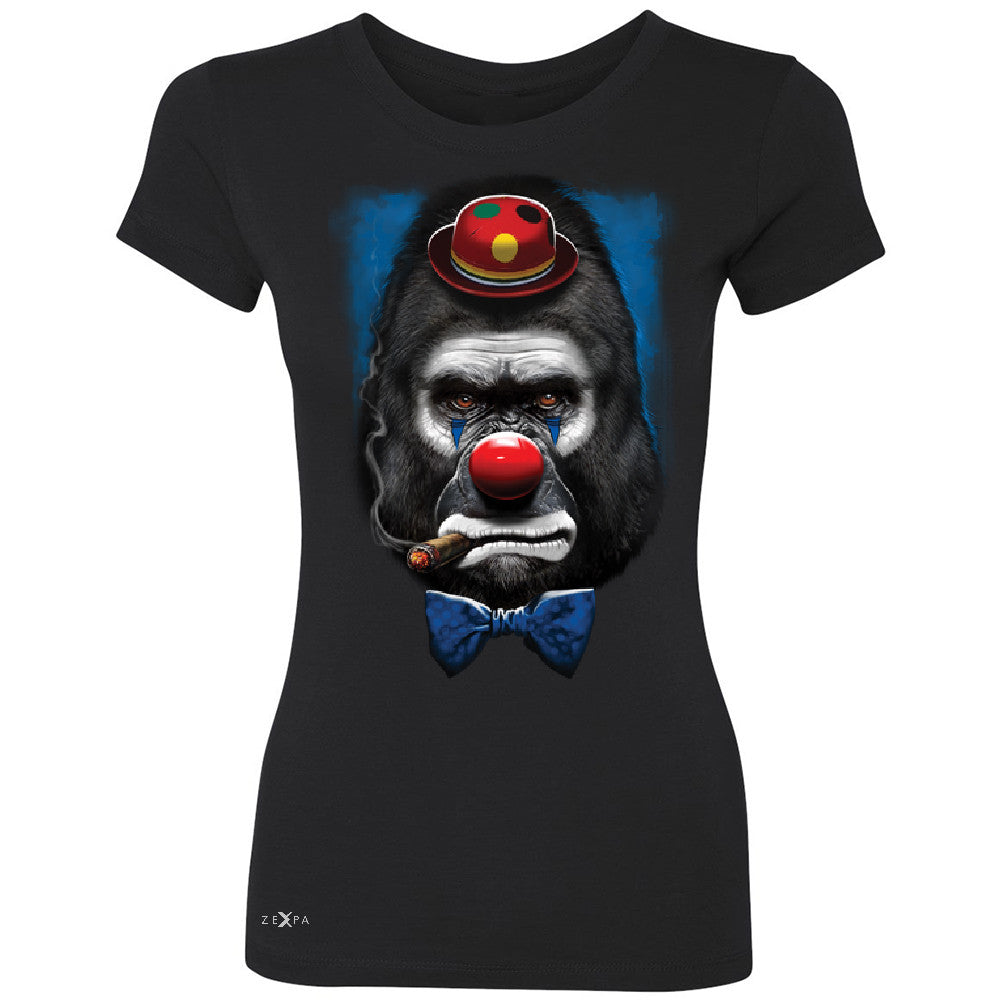 Gorilla Clown Sad Scary Women's T-shirt Halloween Costume Event Tee - Zexpa Apparel - 1