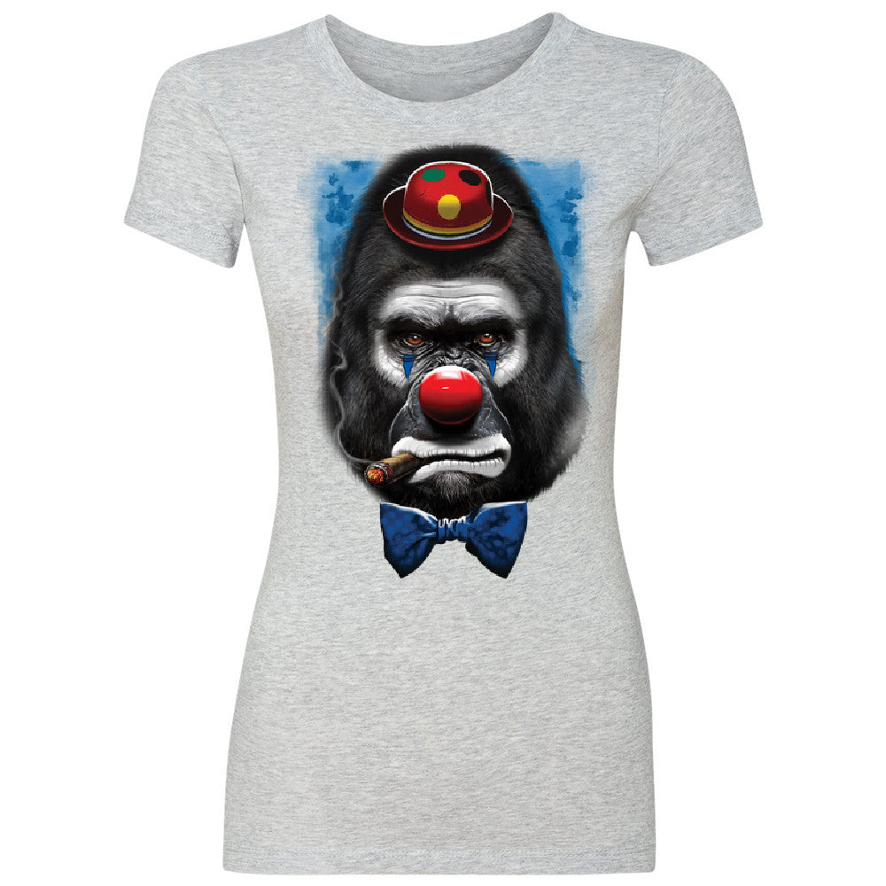 Gorilla Clown Sad Scary Women's T-shirt Halloween Costume Event Tee - Zexpa Apparel - 2