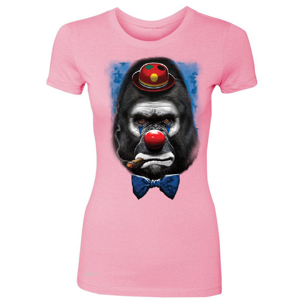 Gorilla Clown Sad Scary Women's T-shirt Halloween Costume Event Tee - Zexpa Apparel - 3