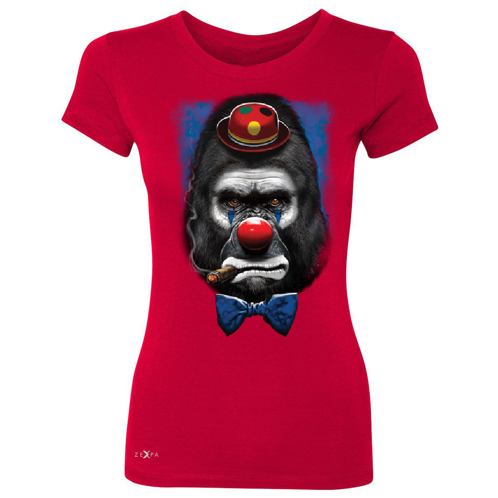 Gorilla Clown Sad Scary Women's T-shirt Halloween Costume Event Tee - Zexpa Apparel - 4