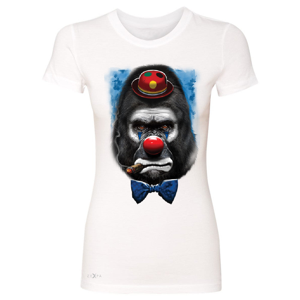 Gorilla Clown Sad Scary Women's T-shirt Halloween Costume Event Tee - Zexpa Apparel - 5