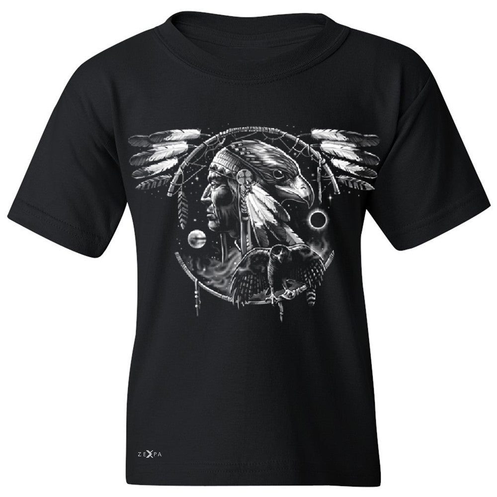 Hawk Dream Spirit Youth T-shirt Native American Dream Catcher Tee - Zexpa Apparel - 1