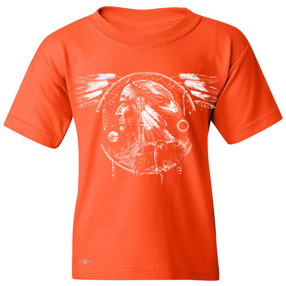 Hawk Dream Spirit Youth T-shirt Native American Dream Catcher Tee - Zexpa Apparel - 2