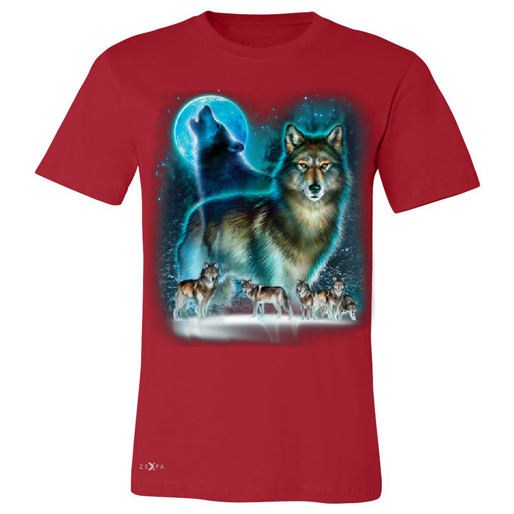"Zexpa Apparelâ""¢ Moonlight Wolf Men's T-shirt Native American Dream Catcher Tee - Zexpa Apparel Halloween Christmas Shirts"