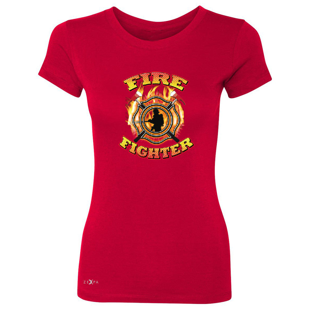 "Zexpa Apparelâ""¢ Firefighters Women's T-shirt Courage Honorable Job 911 Tee - Zexpa Apparel Halloween Christmas Shirts"