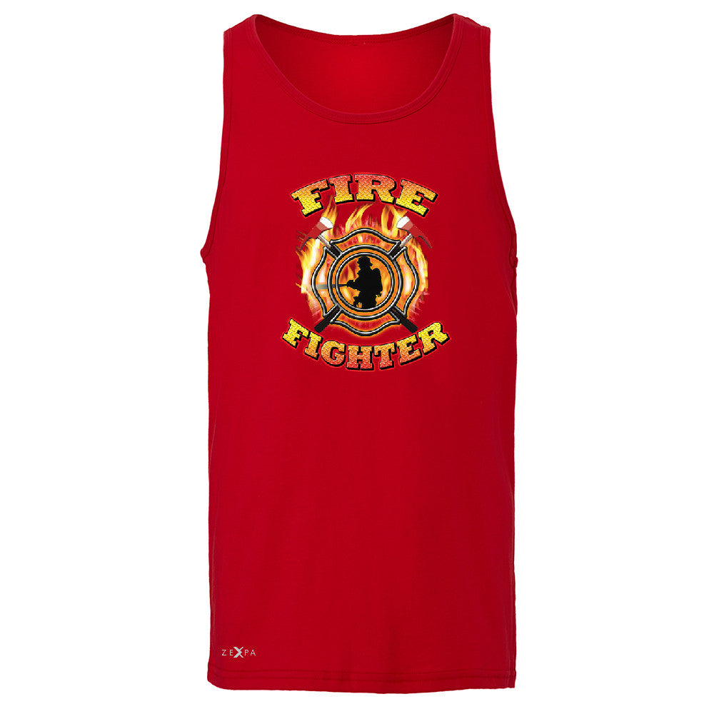 Firefighters Men's Jersey Tank Courage Honorable Job 911 Sleeveless - Zexpa Apparel - 4