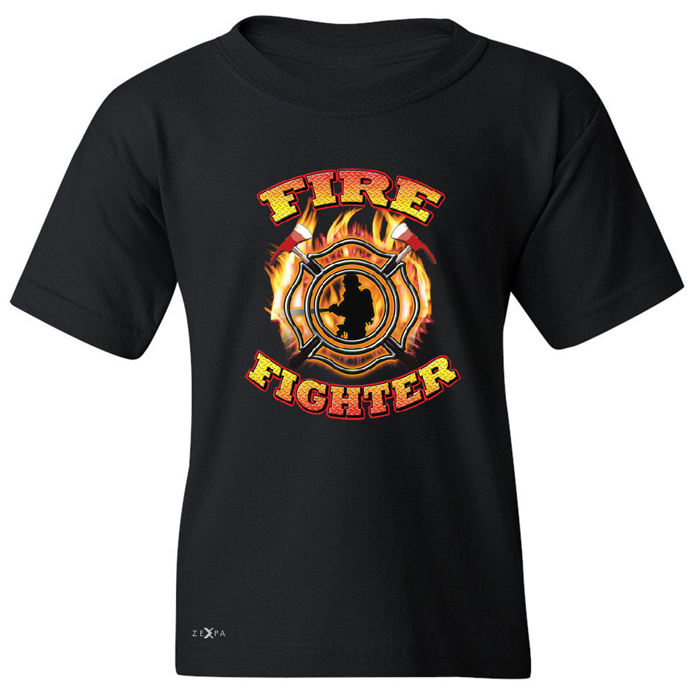 "Zexpa Apparelâ""¢ Firefighters Youth T-shirt Courage Honorable Job 911 Tee - Zexpa Apparel Halloween Christmas Shirts"