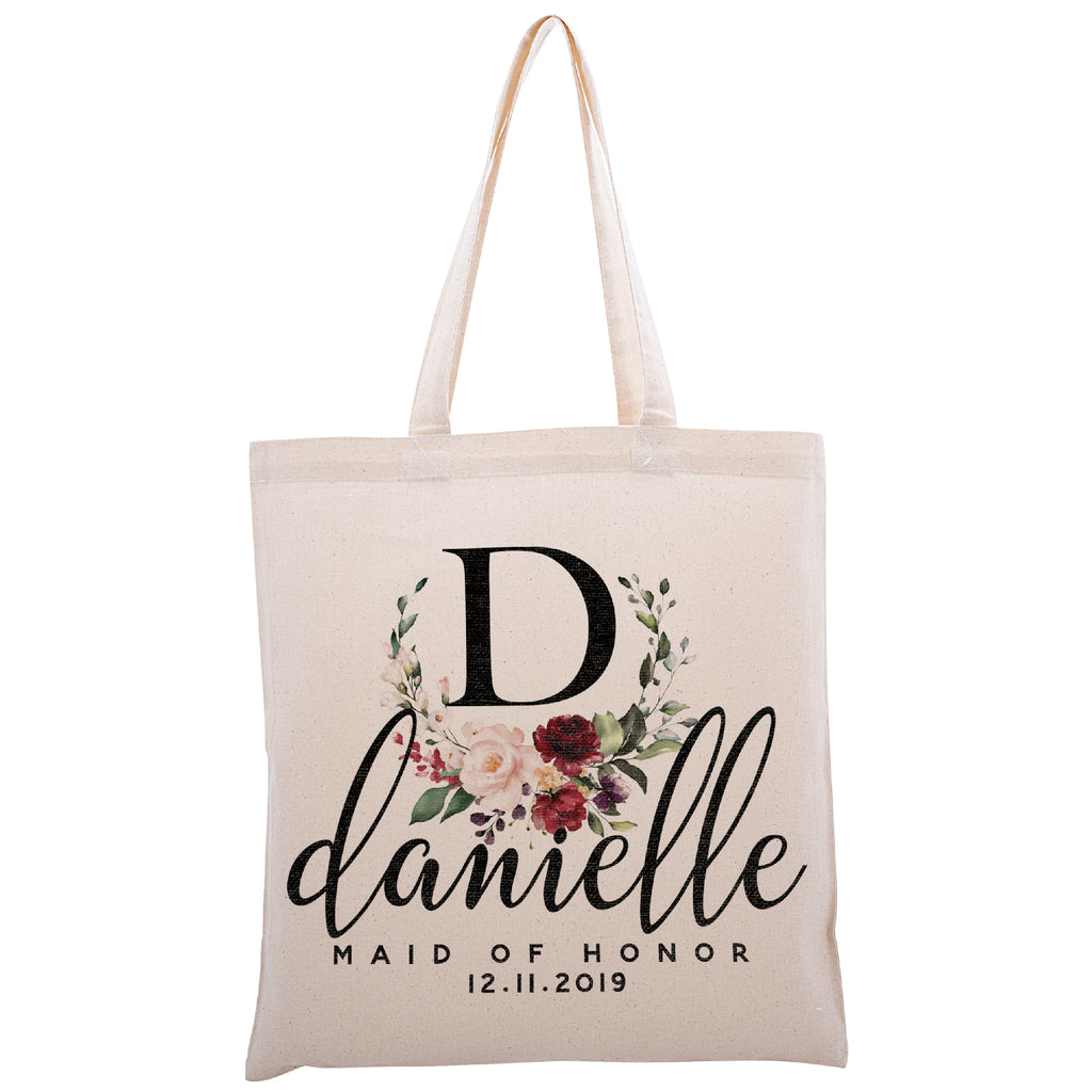 Personalized Tote Bag For Bridesmaids Wedding | Customized Bachelorette Party Bag | Baby Shower and Events Totes |Design #2